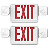 Sunco Lighting 2 Pack Double Sided LED Emergency Exit Sign
