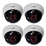 Masione 4 Pack Indoor Dummy Dome Security Camera
