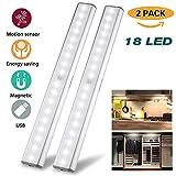 LEPOTEC Under Cabinet 18 LED Closet Motion Sensor Light