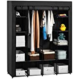 Aoou Covered Portable Closet Organizer Cabinet